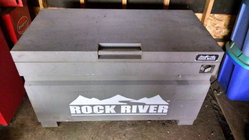 "Gray rock river jobsite storage box 48""w x 28-1/4""h x 24""d includes free toolbox"