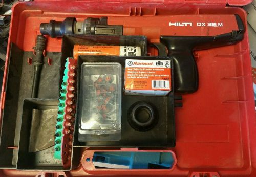 Hilti dx 36m. semi -automatic powder actuated fastening tool nailer gun + extras