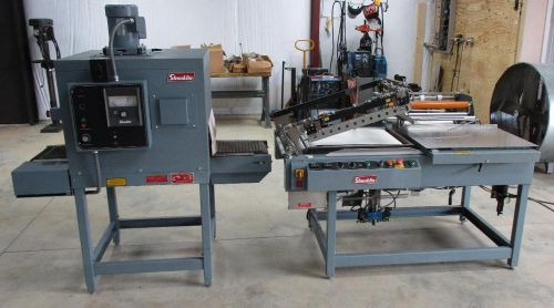 Shanklin s26 semi automatic lbar sealer w/ hot knife and t-6 shanklin shrink tun