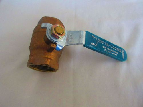 Smith-cooper 8170 series brass ball valve new