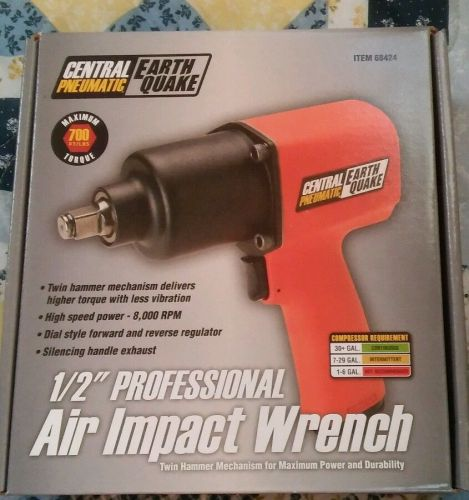 New earthquake 1/2 in. professional air impact wrench heavy duty anvil