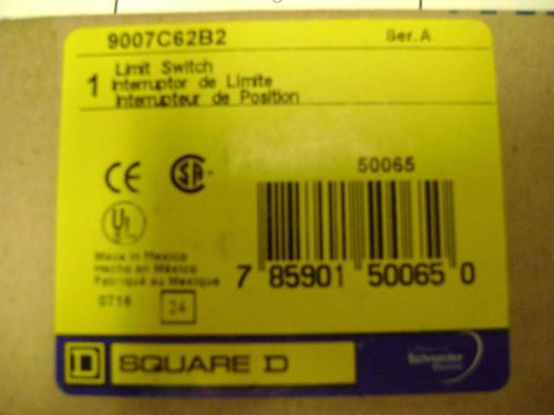 Limit switch 9007c62b2 square d mechanical front rotary turret head nib