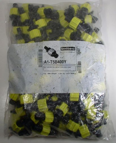 "Irritec a1-t5b400y perma-loc tape x 400 series 5/8"" barb yellow nut bag of 100"