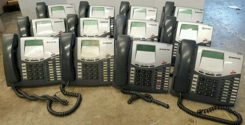 Lot of 12 inter-tel 8520 lcd display office business phones 550.8520