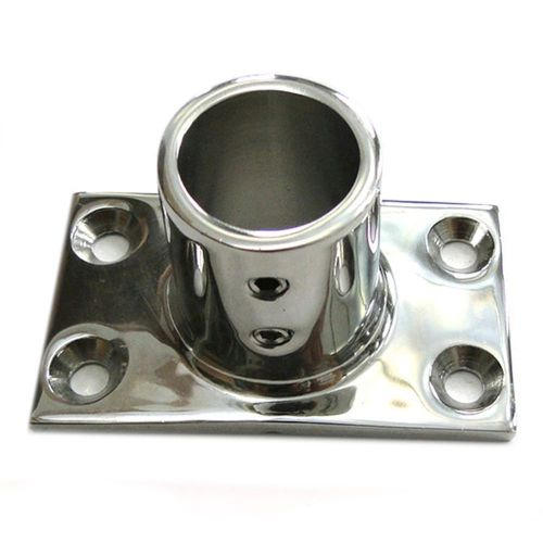 90 dregree square pipe base flat bottom yacht marine 22mm