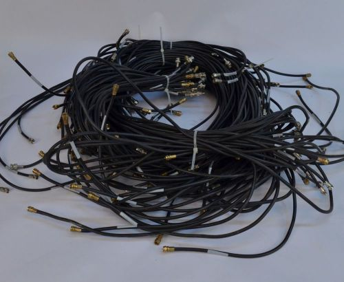 Lot of 110 belden 9116 & carol c1112 coaxial cables ~470' total w/ connectors