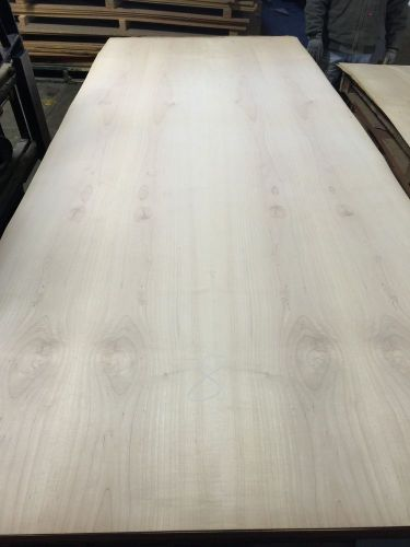 "Wood veneer maple 48x120 1pc total 10mil paper backed  ""exotic"" stock skid 8"