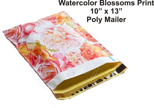 (15) 10 x 13 water color rose flower designer mailers poly shipping  boutique