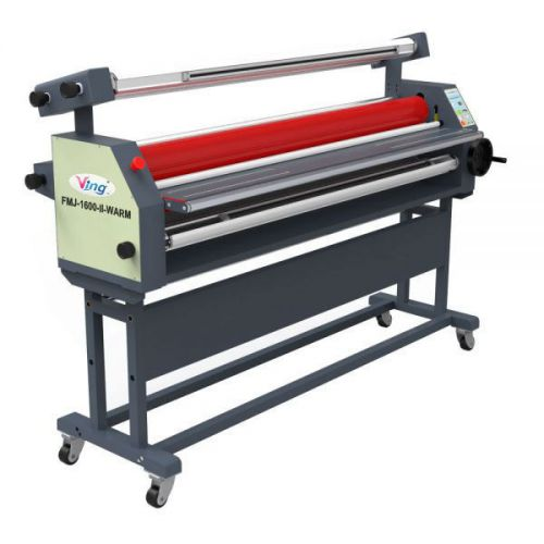 "63"" full - auto wide format roll heat assisted cold laminator with stand -by sea"